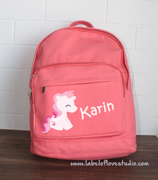 Big Backpack: Pink Unicorn