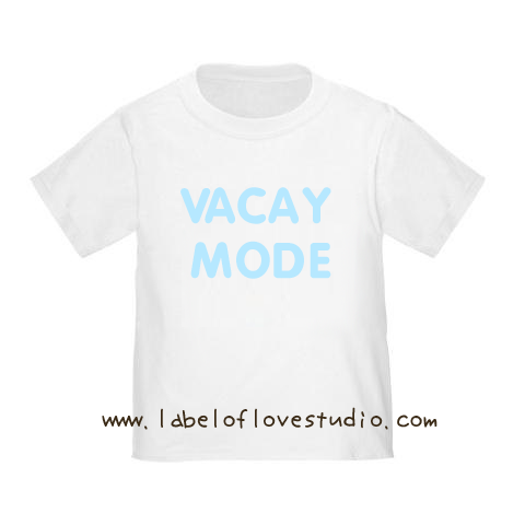 Vacay Mode (Blue)  Vacation Romper/ Tee