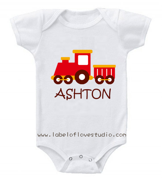Vroom Vroom Train Romper/ Tee