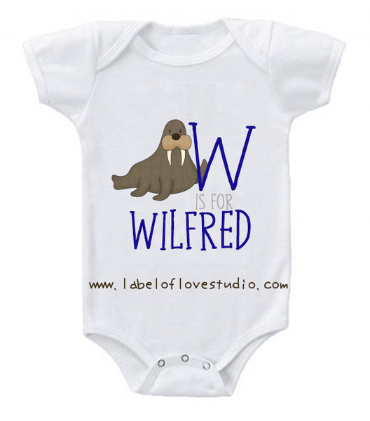 W is for ... Alphabet Romper/ Tee