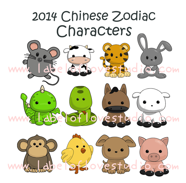 Zodiac Family round Sticker