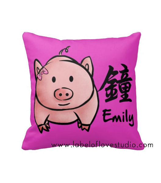 Zodiac Surname Cushion