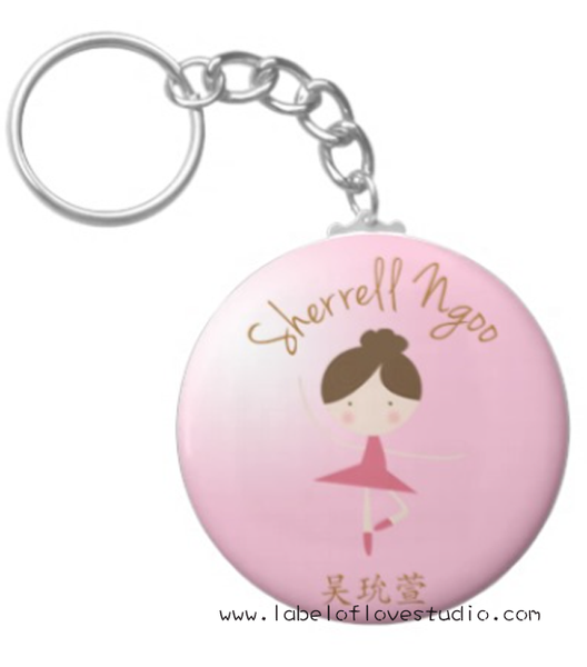 Ballerina Bag Tag
