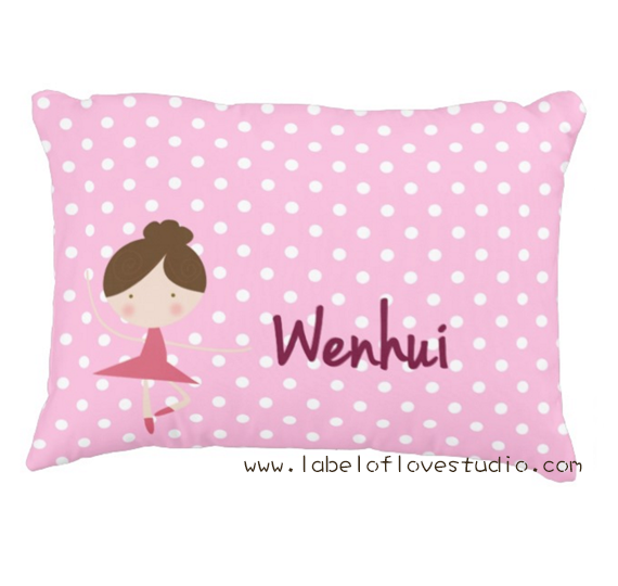 Graceful Ballerina Personalized Pillow
