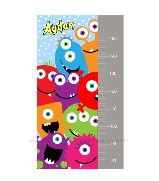 Curious Monsters Height Chart