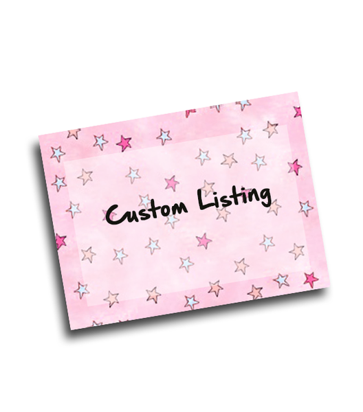 Custom listing for Adeline