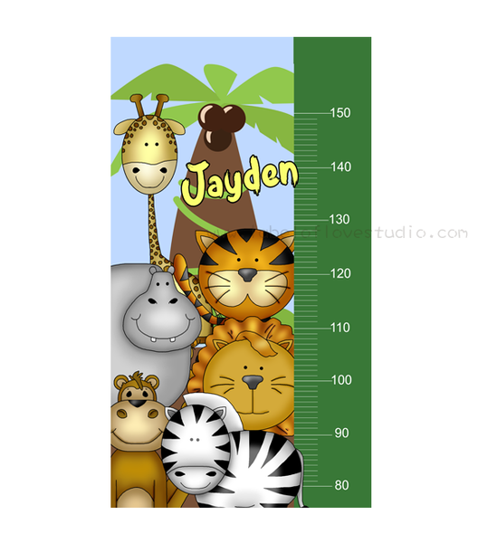 Happy Safari Height Chart