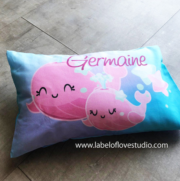 Joyful Narwhale Personalized Pillow