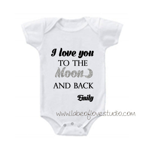 Love You to the Moon and Back Romper/ Tee