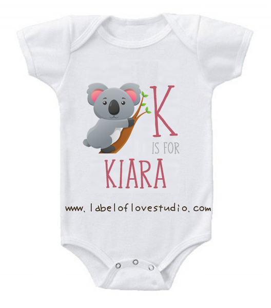 K is for ... Alphabet Romper/ Tee