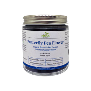Blue Butterfly Pea Powder 100% Organic & Natural | Caffeine-free Energy Booster, Anti-oxidant & Plant-based Food Color of Vibrant Blue & Purple Hues