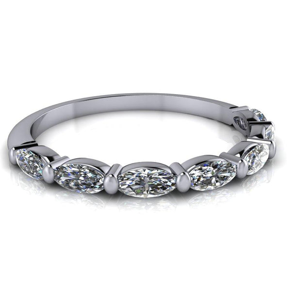0.45 CTW Oval Moissanite Wedding Band or Stacking Ring-Bel Viaggio Designs