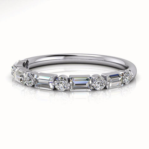 Baguette Diamond Wedding Band .60 ctw-Bel Viaggio Designs