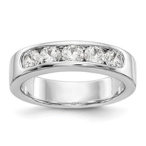 1.00 ct Women's Diamond 14 kt Gold Wedding Band-BVD