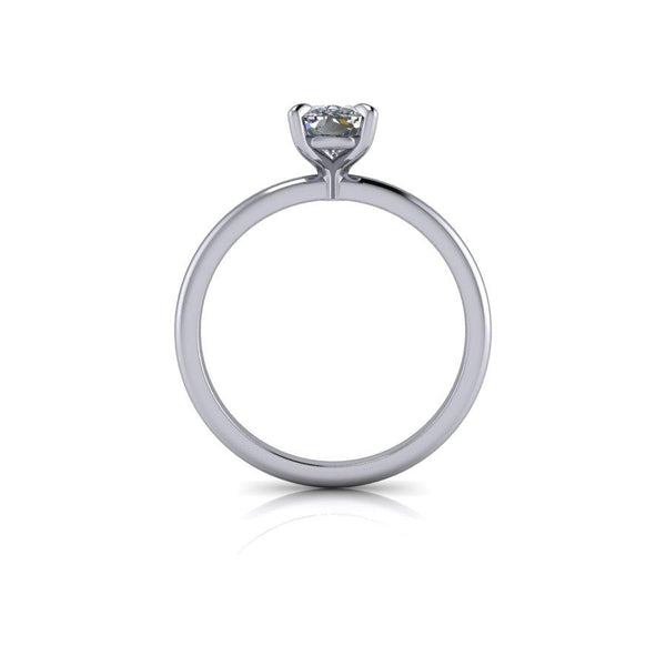 1.00 CTW Elongated Cushion Cut Moissanite Solitaire Ring, Center Stone Options-Bel Viaggio Designs