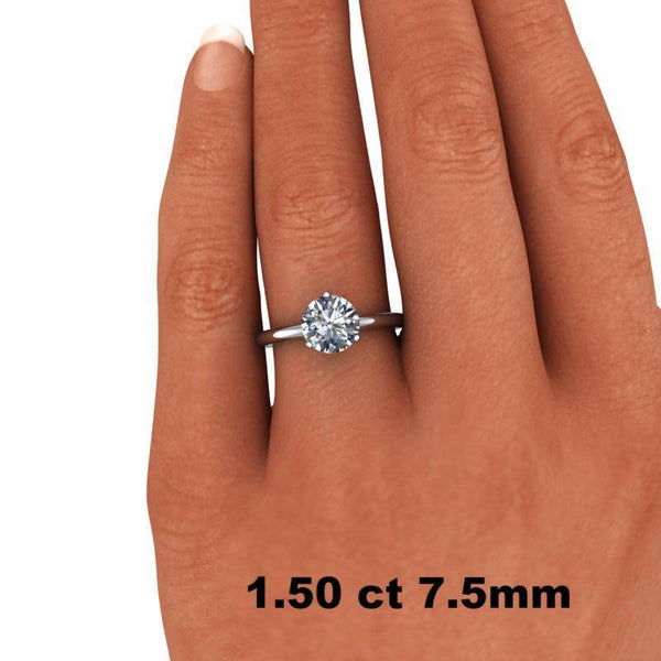 1.00 CTW Forever One Moissanite Solitaire Engagement Ring - Stone Options-Bel Viaggio Designs