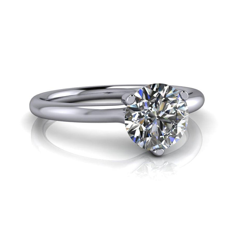 Forever One Moissanite Solitaire Engagement Ring - Stone Options-Bel Viaggio Designs