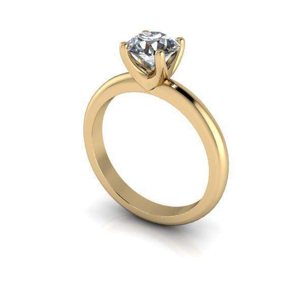 1.00 CTW Moissanite Ring, Solitaire Engagement Ring, Center Stone Options-Bel Viaggio Designs
