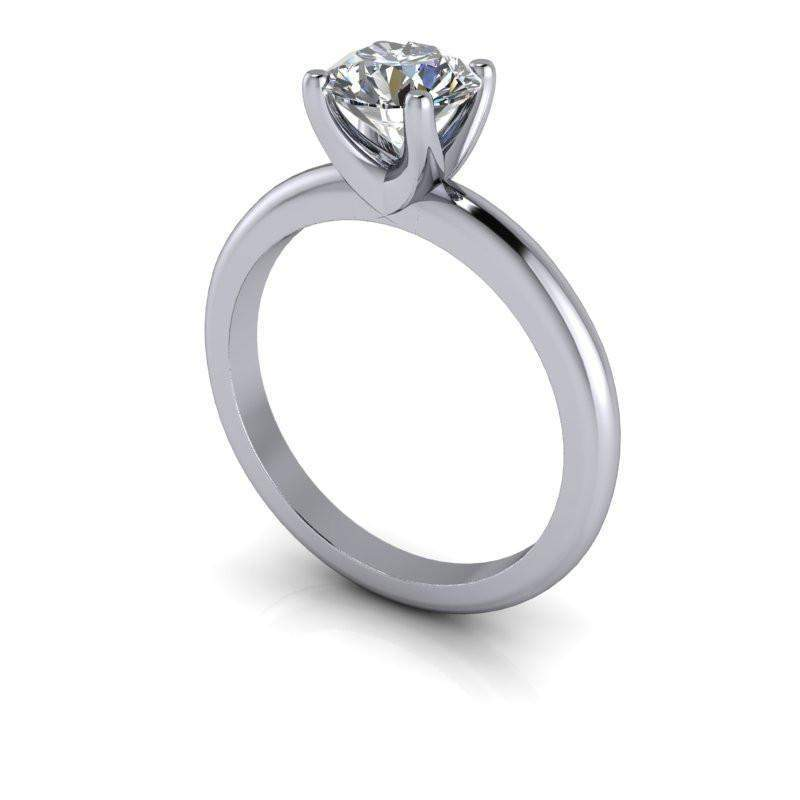 Moissanite Ring, Solitaire Engagement Ring, Center Stone Options-Bel Viaggio Designs