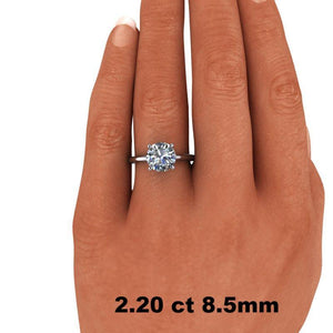 1.00 CTW Round Forever One Moissanite Solitaire Engagement Ring, Center Stone Options-Bel Viaggio Designs, LLC