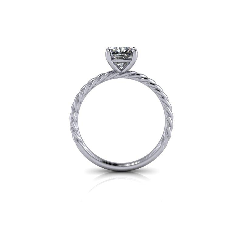 Cushion Cut Forever One Moissanite Engagement Ring, Center Stone Options-Bel Viaggio Designs