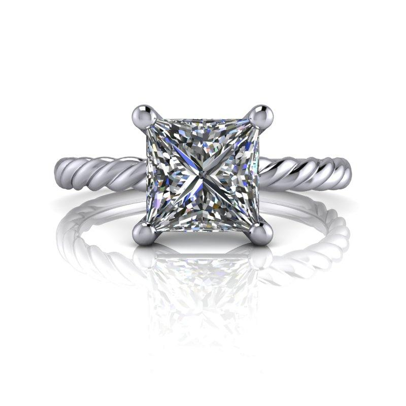 Wedding Website Domain Name Ideas: Forever One Moissanite Engagement Ring Rope Band 1.20 Ct