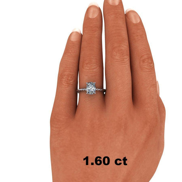 Elongated Cushion Cut Moissanite Bridal Set, Center Stone Options-Bel Viaggio Designs
