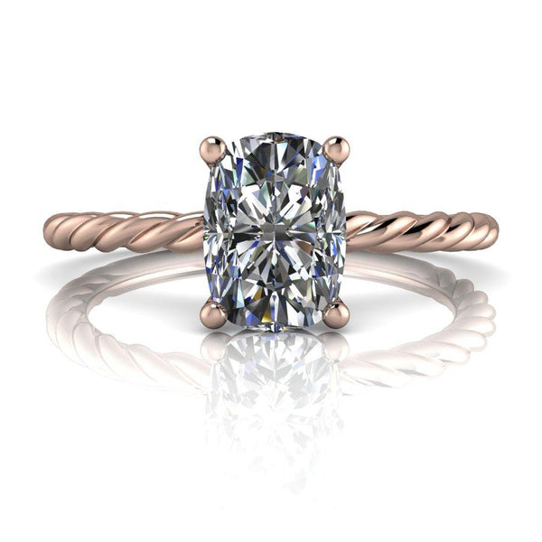 1.21 CTW Elongated Cushion Cut Moissanite Bridal Set, Center Stone Options-Bel Viaggio Designs