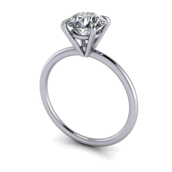 1.25 ctw Charles & Colvard Hearts & Arrows Moissanite Engagement Ring Thin Band-Bel Viaggio Designs