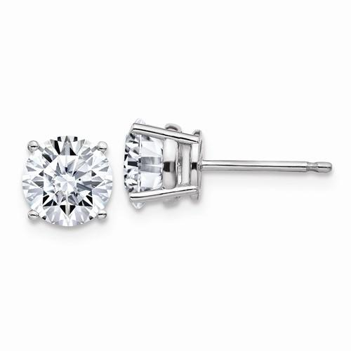 1.25 CTW Round Moissanite Stud Earrings, DEF Color-Bel Viaggio Designs
