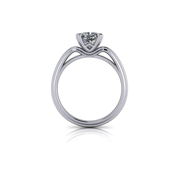 1.30 CTW Cushion Cut Moissanite Engagement Ring - Stone Options-Bel Viaggio Designs