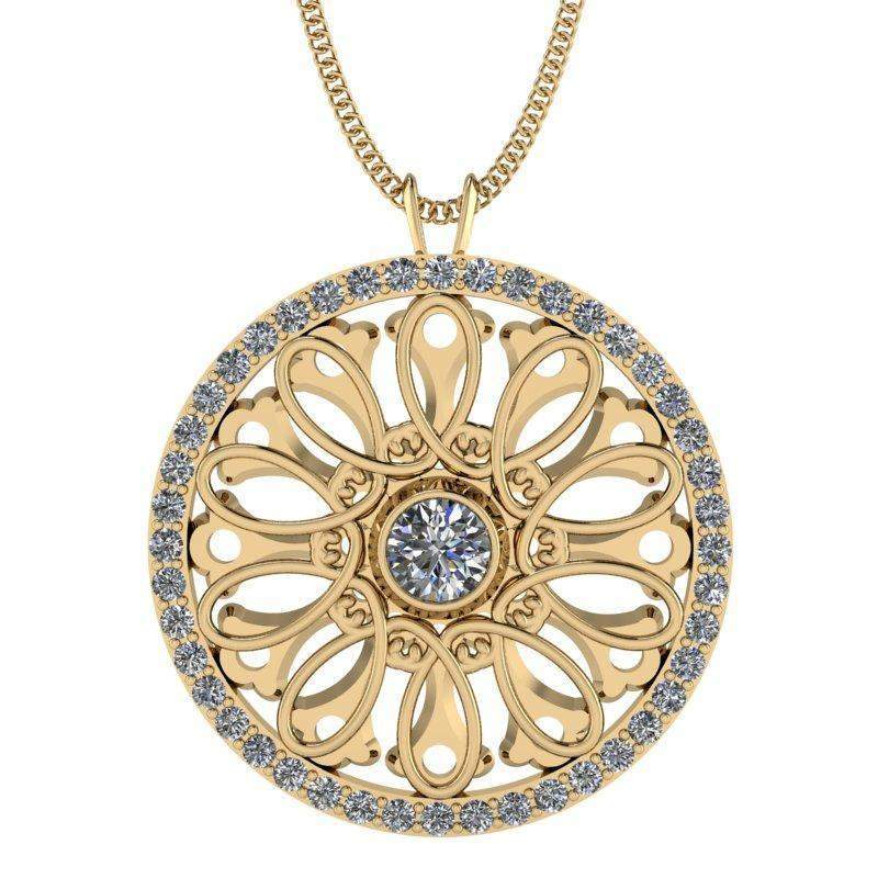 1.31 CTW Moissanite Pendant Necklace - Stacy K ~ Opulence Limited Edition-BVD