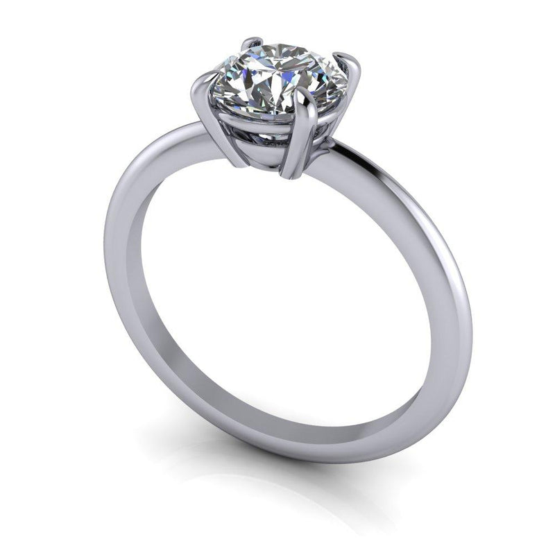 1.34 ctw Charles & Colvard Round Hearts and Arrows Moissanite Engagement Ring/Set-Bel Viaggio Designs