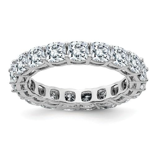 14 kt Gold Cushion Cut Moissanite Eternity Band 4.18 CTW-Bel Viaggio Designs