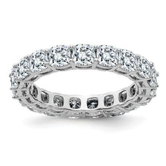14 kt Gold Cushion Cut Moissanite Eternity Band 4.18 CTW-Bel Viaggio Designs, LLC