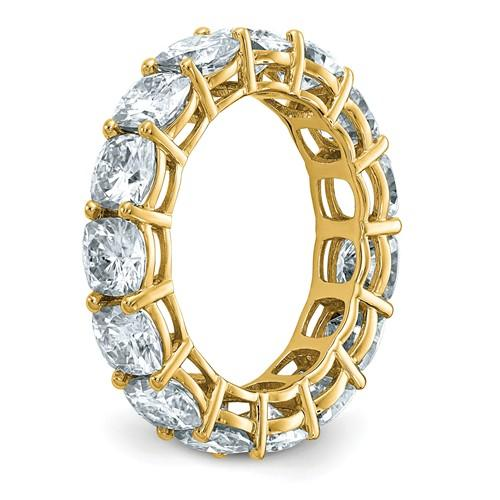 14 kt Gold Cushion Cut Moissanite Eternity Band 8.00 CTW-Bel Viaggio Designs