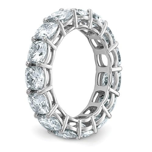 14 kt Gold Cushion Cut Moissanite Eternity Band 8.00 CTW-Bel Viaggio Designs, LLC