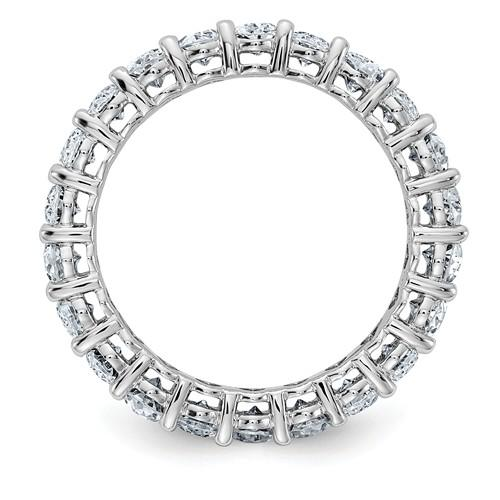14 kt Gold Oval Moissanite Eternity Band 5.72 CTW-BVD