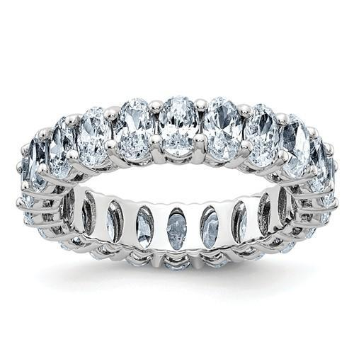 14 kt Gold Oval Moissanite Eternity Band 5.72 CTW-Bel Viaggio Designs