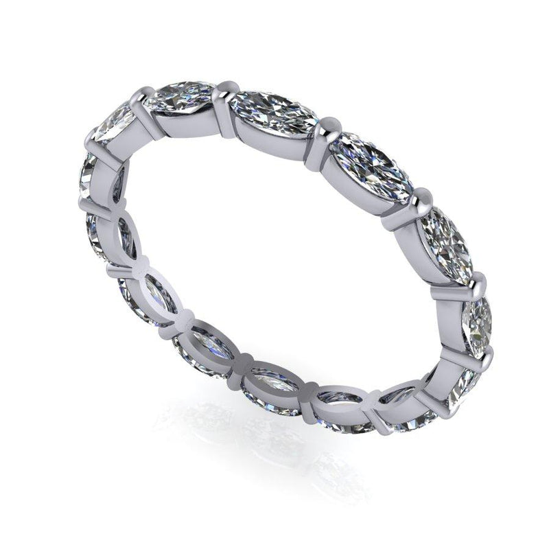 1.40 CTW Oval Forever One Moissanite Eternity Band-Bel Viaggio Designs