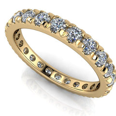 1.45 CTW Round Forever One Moissanite Eternity Band-Bel Viaggio Designs, LLC