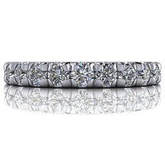 1.45 CTW Round Forever One Moissanite Eternity Band-Forever One-Bel Viaggio Designs-Bel Viaggio®