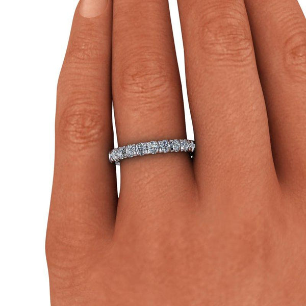 1.45 CTW Round Forever One Moissanite Eternity Band-Bel Viaggio Designs