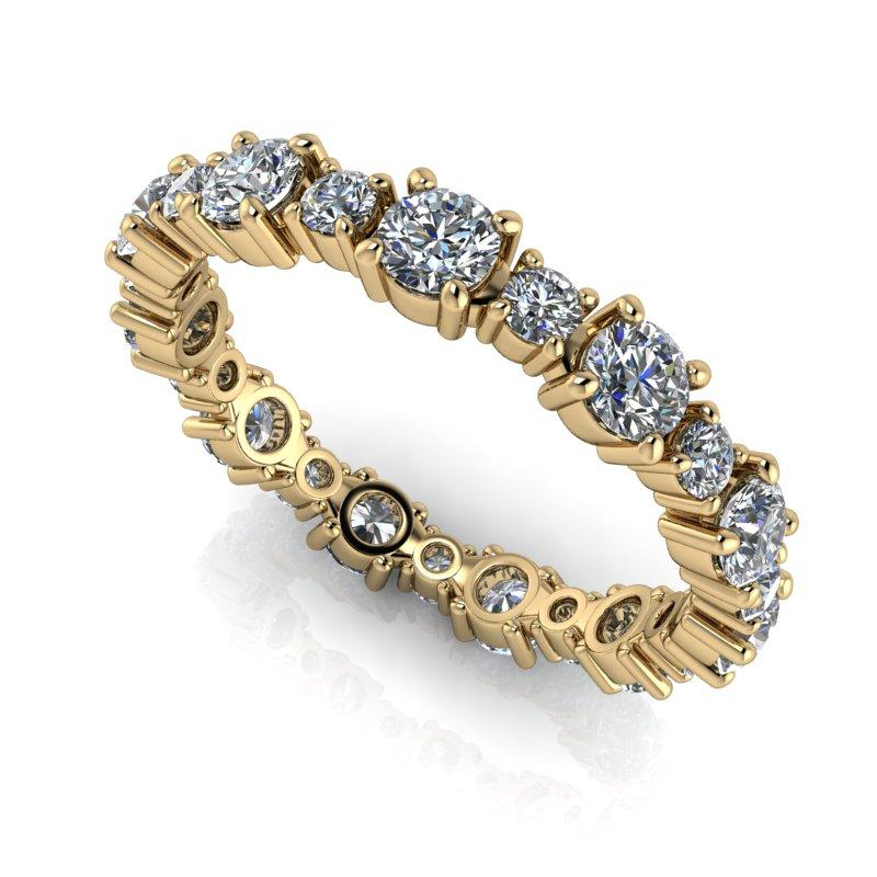 1.45 CTW Women's Eternity Band Round Forever One Moissanite Ring-Bel Viaggio Designs, LLC