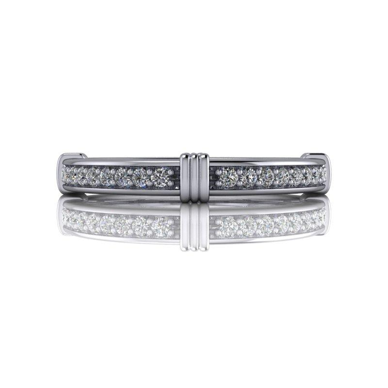 .15 CTW Lab Grown Diamond Wedding Band or Anniversary Ring-Bel Viaggio Designs