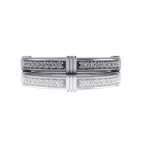 .15 CTW Forever One Moissanite Wedding Band or Anniversary Ring-BVD