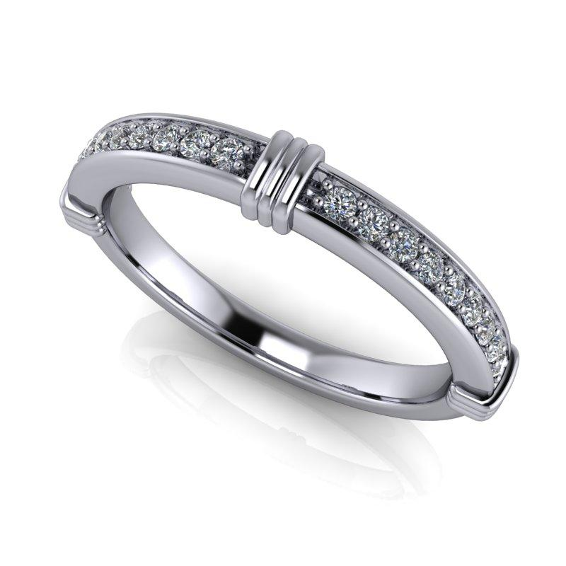 .15 CTW Forever One Moissanite Wedding Band or Anniversary Ring-Bel Viaggio Designs, LLC