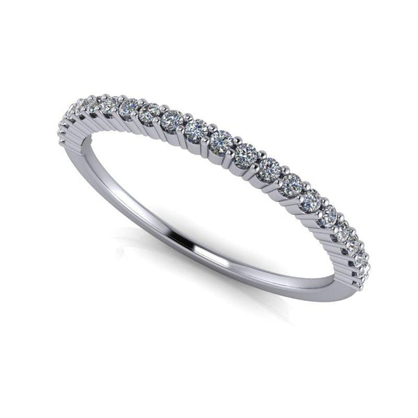 .15 CTW Thin Wedding Band Round Lab Grown Diamond-Bel Viaggio Designs