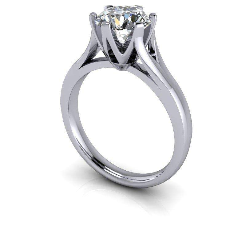 1.50 CTW Colorless Moissanite Modern Solitaire Engagement Ring-Bel Viaggio Designs, LLC