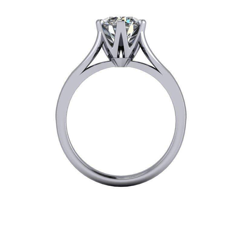 1.50 CTW Colorless Moissanite Modern Solitaire Engagement Ring-Bel Viaggio Designs